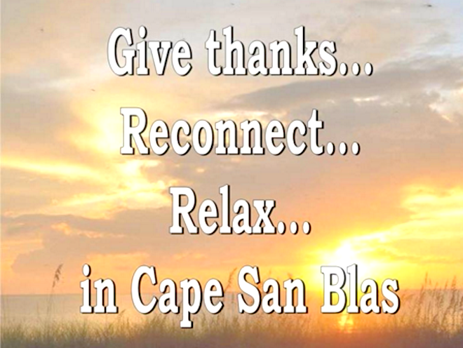 Come Spend Thanksgiving in Cape San Blas This Year